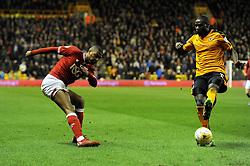 Mark Little of Bristol City crosses the ball - Mandatory byline: Dougie Allward/JMP - 08/03/2016 - FOOTBALL - Molineux Stadium - Wolverhampton, England - Wolves v Bristol City - Sky Bet Championship