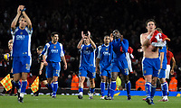Photo: Ed Godden.<br /> Arsenal v Portsmouth. The Barclays Premiership. 16/12/2006. The Portsmouth players applaud their travelling fans at the end of the game.