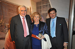 SIR SYDNEY & LADY LIPWORTH and their son BERTRAND LIPWORTH at a gala evening in aid of Ubuntu Education Fund held at Battersea Power Station, London on 4th May 2011.