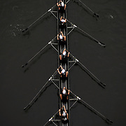 Rowing in Motion. Abstract, fine art, overhead images from the Head of the Riverfront Rowing Regatta. Connecticut river, Hartford, Connecticut, USA. 6th October 2013. Photo Tim Clayton