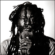 Portrait of Burning Spear portrait at Island Records 1982