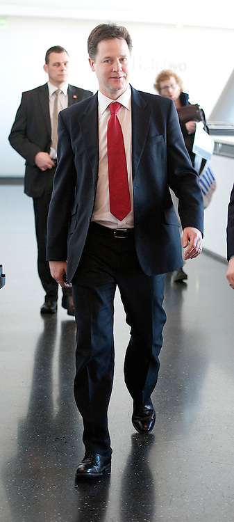 © London News Pictures. 11/03/2012.  Gateshead, UK. Leader of the Liberal Democrats NICK CLEGG at the Liberal Democrat Spring conference on day 3 at the Sage Gateshead in Tyne and Wear on March 11th, 2012. Photo credit : Ben Cawthra/LNP