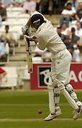Lord's London, 1st NPower Test   England v New Zealand.  New Zealand skipper,  Stephen Fleming.  fending off, 20/05/2004 <br /> [Credit Peter Spurrier Intersport Images}