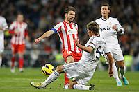 01.12.2012 SPAIN -  La Liga 12/13 Matchday 14th  match played between Real Madrid CF vs  Atletico de Madrid (2-0) at Santiago Bernabeu stadium. The picture show Fabio Alexandre Coentrao (Potuguese defender of  Real Madrid)
