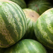 Watermelons at a farm stand in Massachusetts