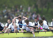 Putney, London   <br /> 2002 Varsity Boat Race. <br /> Photo Peter Spurrier<br /> 2002 Boat Race<br /> 30/03/02<br /> Cambridge despair - Left to right Rick Dunn, Stu Welch and Lucas Hirst.[Mandatory Credit:Peter SPURRIER/Intersport Images]