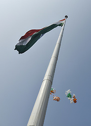 October 2, 2018 - Guwahati, Assam, India - Assam Chief Minister  Sarbananda Sonowal inaugurate the third tallest flag-post in India with a height of 300 ft and with a flag of 120 x 80 ft at Gandhi Mandap in Guwahati, Assam, India on Tuesday, 2 October 2018. (Credit Image: © David Talukdar/NurPhoto/ZUMA Press)