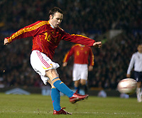 Photo: Paul Greenwood.<br />England v Spain. International Friendly. 07/02/2007. Spains Andres Iniesta scores the only goal of the game