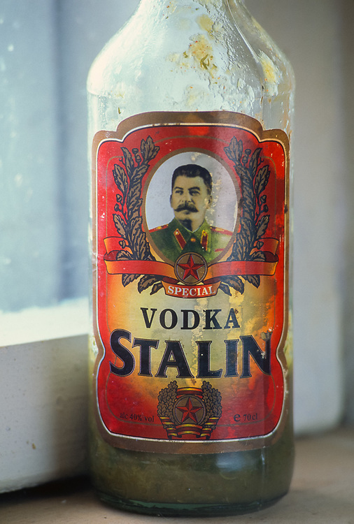 Stalin Vodka bottle, Tbilisi, The Country of Georgia, 1999