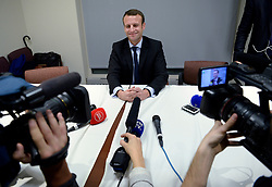 Emmanuel Macron ex-economy French minister who annonced presidential run speaks to the press in New York city, NY December 5, 2016. Photo by Olivier Douliery/ABACA