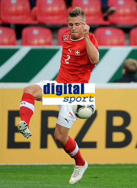 Fotball<br /> Play Off U21<br /> Tyskland v Sveits<br /> 12.10.2012<br /> Foto: Witters/Digitalsport<br /> NORWAY ONLY<br /> <br /> Silvain Widmer (Schweiz)<br /> Fussball, U 21 EM-Qualifikation, Deutschland - Schweiz 1:1