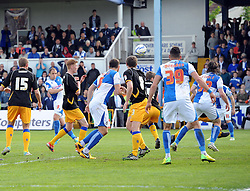Bristol Rovers' Mark McChrystal hits the post with his effort - Photo mandatory by-line: Joe Meredith/JMP - Mobile: 07966 386802 03/05/2014 - SPORT - FOOTBALL - Bristol - Memorial Stadium - Bristol Rovers v Mansfield - Sky Bet League Two