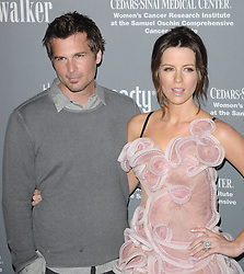 Photo by: Genesis/starmaxinc.com<br /> ©2008<br /> <br /> 9/13/08<br /> Kate Beckinsale and Len Wiseman at the Pink Party.<br /> (Santa Monica, CA)