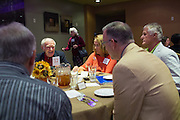 The San Jose State University Heritage Society enjoys their annual luncheon at Flames Eatery & Bar in downtown San Jose, California, on October 31, 2014. (Stan Olszewski/SOSKIphoto)