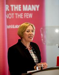 Pictured: New Scottish Labour Deputy Leader Lesley Laird speaks after her appointment.<br /> <br /> Scottish Labour leader Richard Leonard announced his new deputy leader, Fife MP Lesley Laird, at a speech in Glasgow.<br /> <br /> © Dave Johnston/ EEm