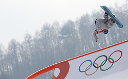 Ryan Stassel of the USA during qualification for Men's Snowboard Slopestyle the PyeongChang 2018 Winter Olympic Games in South Korea.