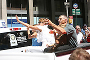 Joe Giradi at the Major League Baseball All-Stars and 49 Hall of Famers ride up Sixth Avenue in All Star-Game Red Carpet Parade Presented by Chevy on July 15, 2008