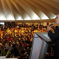 TOLUCA, México.- Maurilio Hernández durante la firma de la Alianza Electoral por el Estado de México con miras a las elecciones del 2012 entre el Grupo Acción Política, Morena y el Partido Movimiento Ciudadano. Agencia MVT / Crisanta Espinosa. (DIGITAL)