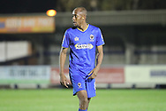 AFC Wimbledon midfielder Jimmy Abdou (8) walking off the pitch during the EFL Trophy match between AFC Wimbledon and Luton Town at the Cherry Red Records Stadium, Kingston, England on 31 October 2017. Photo by Matthew Redman.