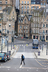 Looking down Waverely Place. Edinburgh city centre on Tuesday 25th March, after the Lockdown.