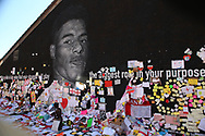 Marcus Rashford mural unveiling event at Withington, Manchester, United Kingdom on 17 July 2021.