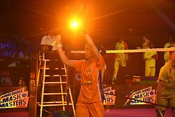 January 13, 2018 - Hyderbad, Telangana, India - Tai Tzu Ying of Ahmedabad Smash Masters Celebrate after winning the match against Kirsty Gilmour of Bengaluru Blasters in 2nd Semi Final Bengaluru Blasters Vs Amhedabad Smash Masters (Credit Image: © Varun Kumar Mukhia/Pacific Press via ZUMA Wire)
