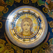 Intricate religious ceiling dome mosaic (St Petersburg, Russian Federation - Aug. 2008) (Image ID: 080814-1215192a)