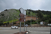 Israel, Upper Galilee, Metula, (founded 1896) is situated on the Lebanese boarder