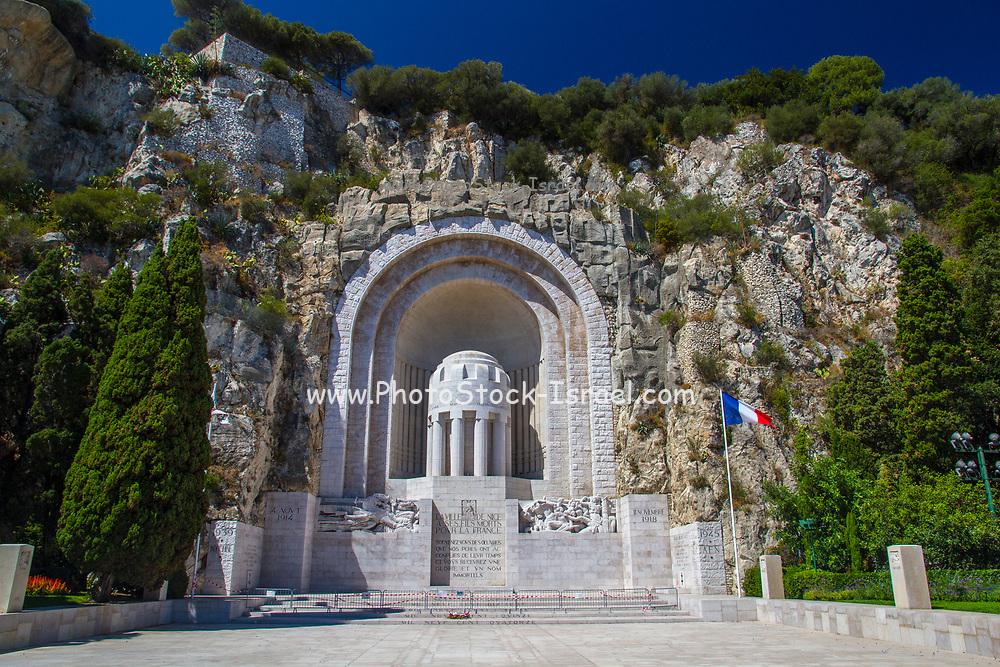 First world War Memorial in Nice, France