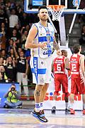 DESCRIZIONE : Campionato 2014/15 Serie A Beko Dinamo Banco di Sardegna Sassari - Giorgio Tesi Group Pistoia<br /> GIOCATORE : Brian Sacchetti<br /> CATEGORIA : Esultanza Mani Curiosità<br /> SQUADRA : Dinamo Banco di Sardegna Sassari<br /> EVENTO : LegaBasket Serie A Beko 2014/2015 <br /> GARA : Dinamo Banco di Sardegna Sassari - Giorgio Tesi Group Pistoia<br /> DATA : 01/02/2015 <br /> SPORT : Pallacanestro <br /> AUTORE : Agenzia Ciamillo-Castoria/C.Atzori <br /> Galleria : LegaBasket Serie A Beko 2014/2015