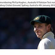 Phil Hughes during the Australia V Pakistan 2nd Cricket Test match at the Sydney Cricket Ground, Sydney, Australia, 4 January 2010. Photo Tim Clayton