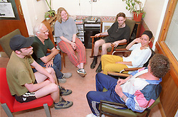 Group discussion in community centre,