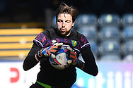 Norwich City goalkeeper Tim Krul (1)   catches a ball in the warm up during the EFL Sky Bet Championship match between Wycombe Wanderers and Norwich City at Adams Park, High Wycombe, England on 28 February 2021.