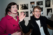 JASMINE GUINNESS; SOPHIE HICKS, The Way We Wore.- Photographs of parties in the 70's by Nick Ashley. Sladmore Contemporary. Bruton Place. London. 13 January 2010. *** Local Caption *** -DO NOT ARCHIVE-© Copyright Photograph by Dafydd Jones. 248 Clapham Rd. London SW9 0PZ. Tel 0207 820 0771. www.dafjones.com.<br /> JASMINE GUINNESS; SOPHIE HICKS, The Way We Wore.- Photographs of parties in the 70's by Nick Ashley. Sladmore Contemporary. Bruton Place. London. 13 January 2010.