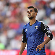 Chris Wondolowski, San Jose Earthquakes, in action during the New York Red Bulls Vs San Jose Earthquakes, Major League Soccer regular season match at Red Bull Arena, Harrison, New Jersey. USA. 19th July 2014. Photo Tim Clayton