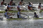 Seville. SPAIN, 18.02.2007, GBR M8+, approaching the finishing line in Sundays final, at the FISA Team Cup, held on the River Guadalquiver course. [Photo Peter Spurrier/Intersport Images] Acer NETHERCOTT, Steve WILLIAMS, Matt LANGRIDGE, Tom SOLESBURY, Jonno DEVLIN, James ORME, Marcus BATEMAN, Robin BOURNE-TAYLOR and Tom STALLARd   [Mandatory Credit, Peter Spurier/ Intersport Images]. , Rowing Course: Rio Guadalquiver Rowing Course, Seville, SPAIN, , Sunrise, Sunsets, Silhouettes