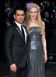 October 12, 2017 - London, England, United Kingdom - 10/12/17.Colin Farrell and Nicole Kidman at the premiere of ''Killing of a Sacred Deer'' in London, England. (Credit Image: © Starmax/Newscom via ZUMA Press)