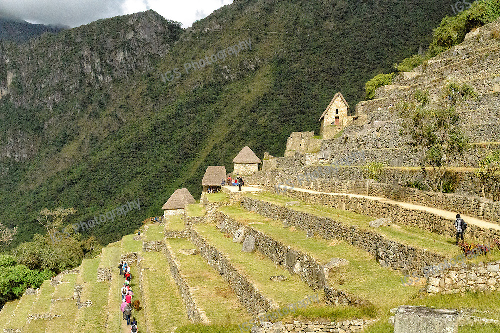 Agricultural terraces at the Machu Picchu ruins