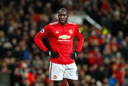 Manchester United's Romelu Lukaku shows his dejection during the Premier League match at Old Trafford, Manchester.
