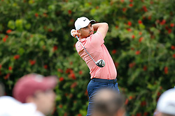 March 16, 2019 - Ponte Vedra Beach, FL, U.S. - PONTE VEDRA BEACH, FL - MARCH 16: Jason Day of Australia plays a shot on the 10th hole during the third round of THE PLAYERS Championship on March 16, 2019 on the Stadium Course at TPC Sawgrass in Ponte Vedra Beach, Fl. (Photo by David Rosenblum/Icon Sportswire) (Credit Image: © David Rosenblum/Icon SMI via ZUMA Press)