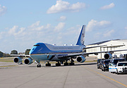 Nashville,TN Air Force One lands at the  Tennessee Air National Guard 118th Wing at Berry Field in Nashville, TN on October, 22 2020