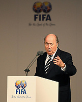 Fotball<br /> FIFA<br /> 29.05.2007<br /> Foto: imago/Digitalsport<br /> NORWAY ONLY<br /> <br /> FIFA Präsident Joseph S. Blatter (Schweiz) hält anlässlich der Einweihung der neuen FIFA Zentrale Home of FIFA in Zürich eine Ansprache