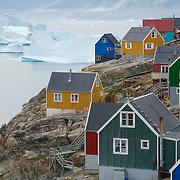 The small fishing village of Uummannaq, Greenland\