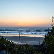 Sunset at Moolack Creek. Oregon Coast.