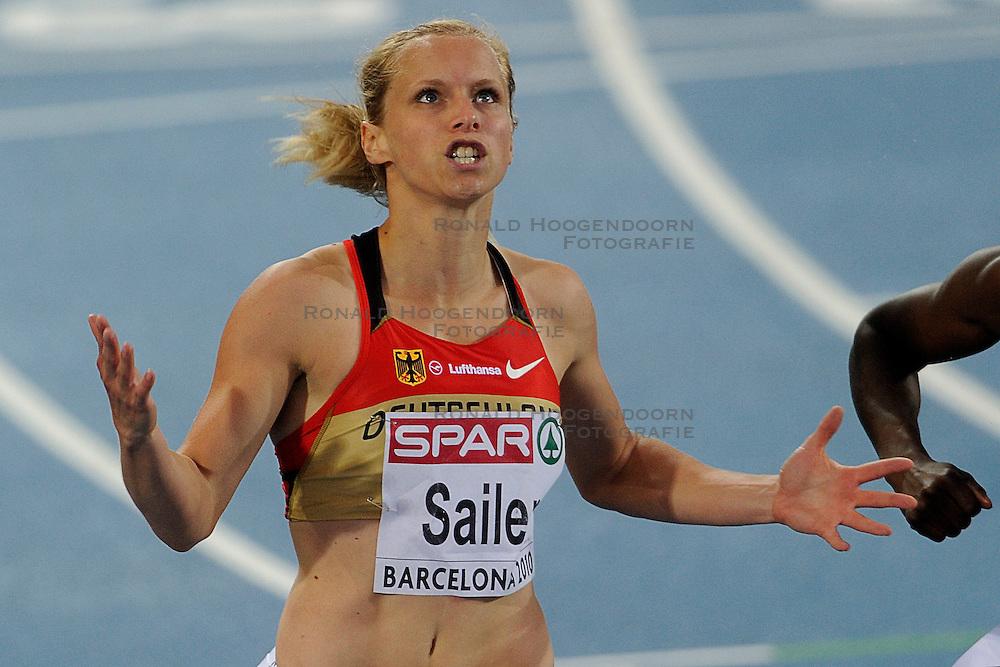 29.07.2010, Olympic Stadium, Barcelona, ESP, European Athletics Championships Barcelona 2010, im Bild Verena Sailer GER wins the 100 meter <br />  GER Foto: nph /  Ronald Hoogendoorn