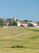 Small town in the Jura region of France