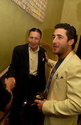 Frankie Fraser and Luca de Bono, Playboy and Beat celebrate Playboy's 50th anniversary Designer collection. Adam St. club. 19 March 2004. ONE TIME USE ONLY - DO NOT ARCHIVE  © Copyright Photograph by Dafydd Jones 66 Stockwell Park Rd. London SW9 0DA Tel 020 7733 0108 www.dafjones.com