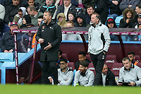 Aston Villa v Derby County - Sky Bet Championship<br /> BIRMINGHAM, ENGLAND - APRIL 28 :  gary Rowett, Derby County manager, shouts from the touchline, with assistant, Kevin Summerfield