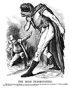 """The Irish Frankenstein. """"The baneful and blood-stained Monster *** yet was it not my Master to the very extent that it was my Creature? *** Had I not breathed into it my own spirit?"""" *** (Extract from the Works of C.S. P-RN-LL, M.P.)"""