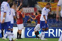 Esultanza di Francesco Totti (Roma) dopo il gol del pareggio<br /> Roma vs Sampdoria<br /> Campionato di Calcio serie A<br /> Stadio Olimpico, Roma, 22/05/2011<br /> Photo Antonietta Baldassarre Insidefoto